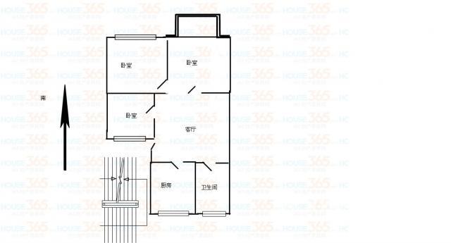 110平三室一厅设计图展示