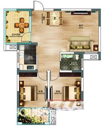 设计分享 商品房房内平面设计图