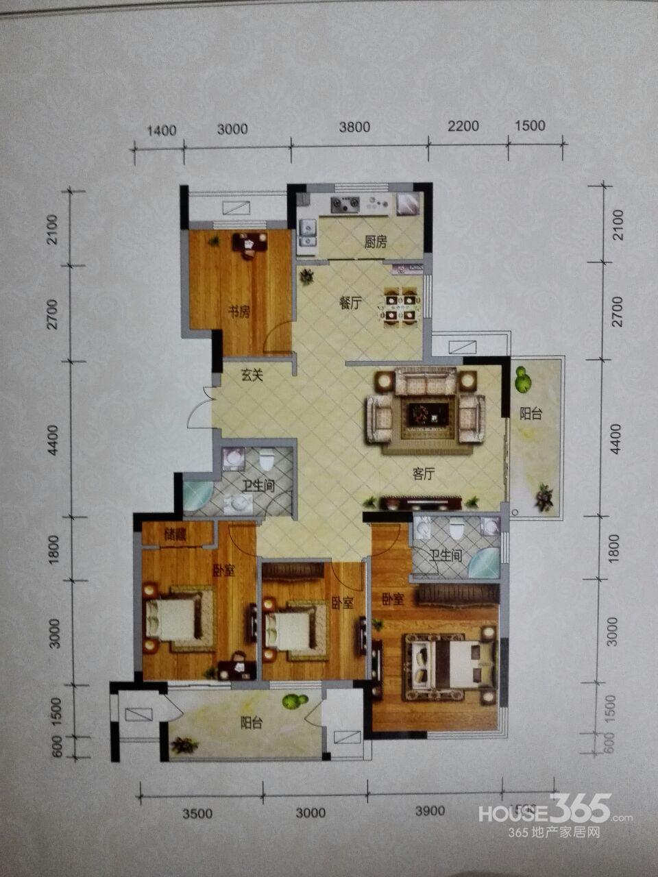 我是房东笕桥横塘景苑东边套5室2厅2卫1厨三房朝南156方