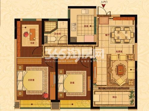 中南世纪花城三期35#楼B26户型
