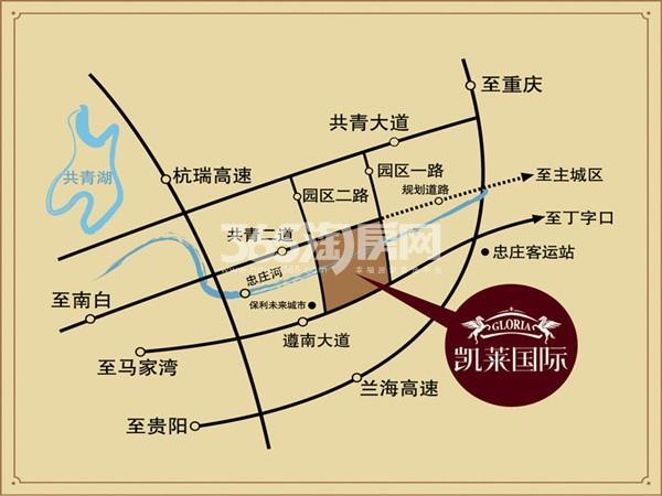 凯莱国际交通图