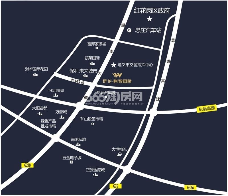 侨龙·财智国际交通图