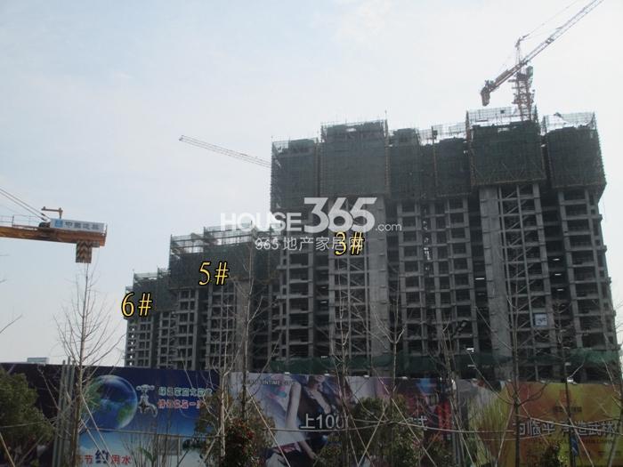 理想银泰城项目3、5、6号楼施工进程图(2015.3)