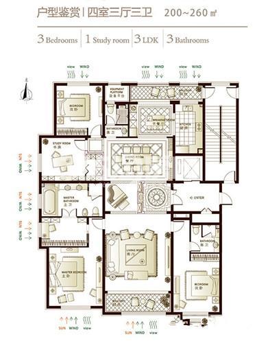 林荫大院楼王户型图