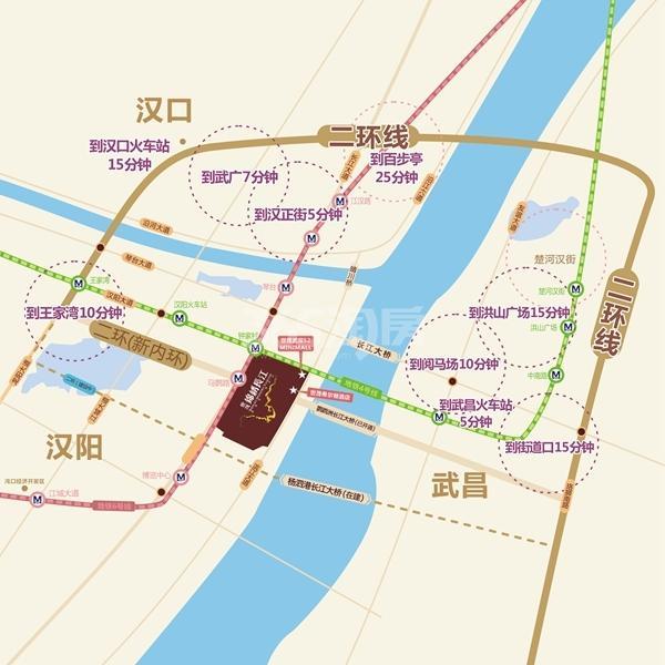 世茂锦绣长江交通图