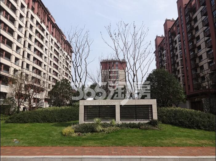 高科荣境小高层绿化实景图(12.8)