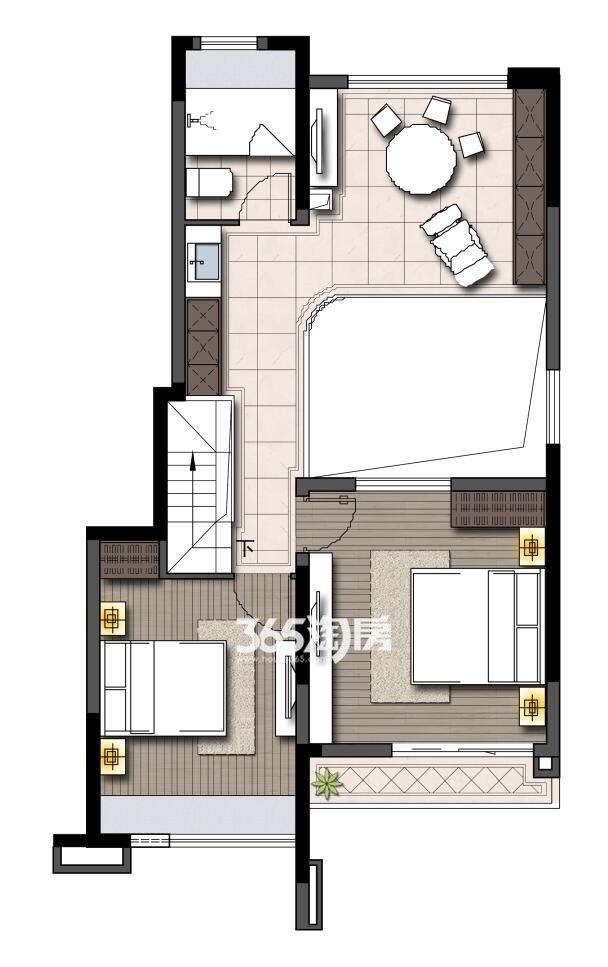 鹭山湖挑高1楼上层(约85平米+86平地下室)
