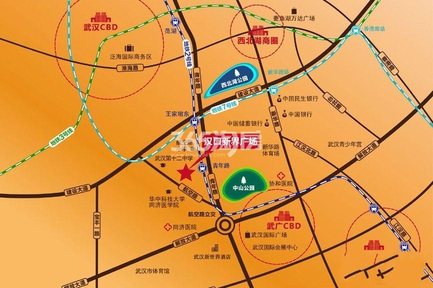 汉口新界广场交通图