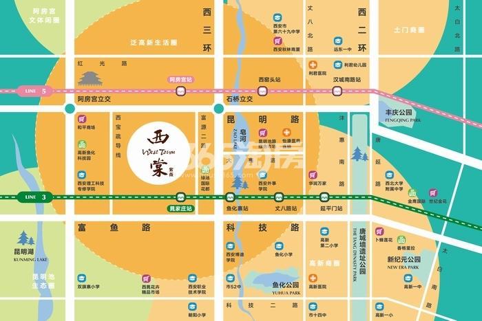 紫薇西棠交通图