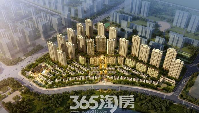蓝光雍锦半岛鸟瞰图