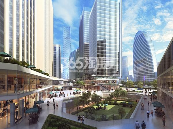 天山世界之门创业城近景鸟瞰图