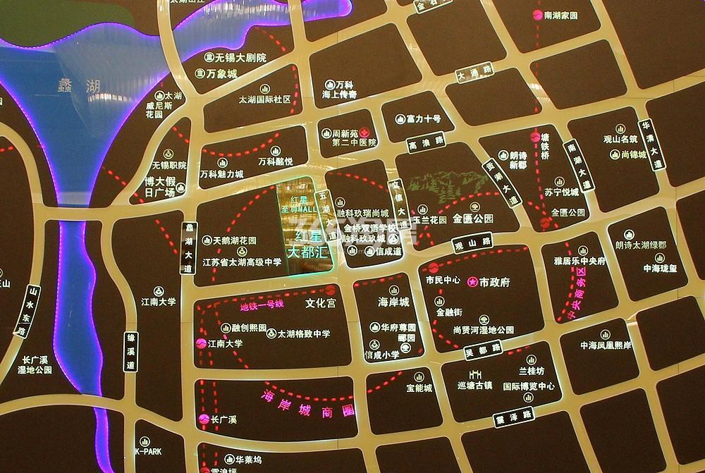 红星大都汇交通图