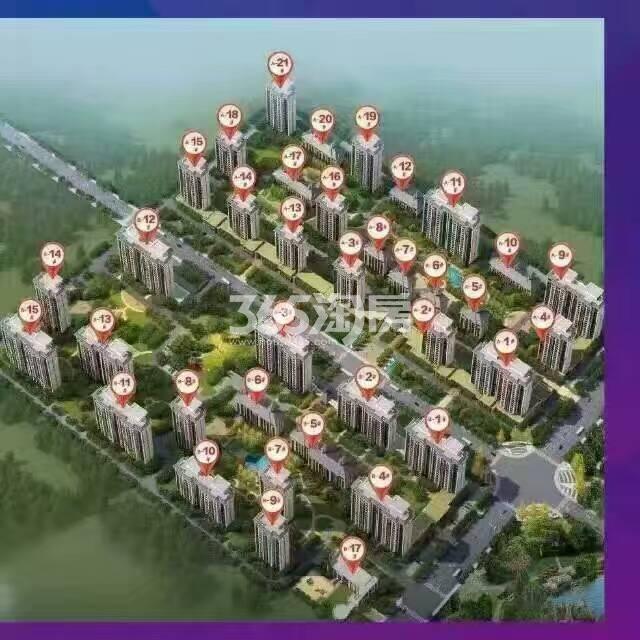 荣盛阿尔卡迪亚永清花语城295地块鸟瞰图