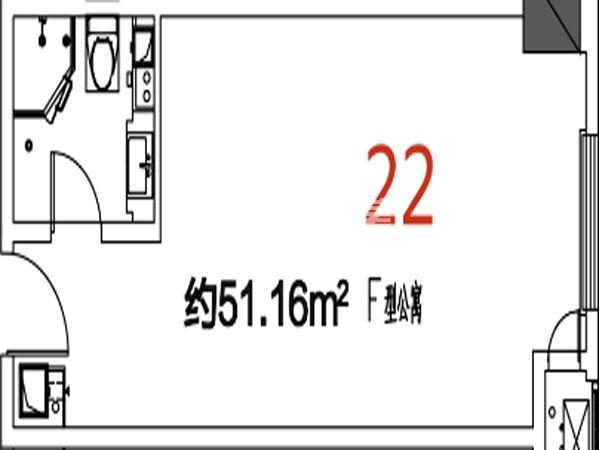 22户型51.16平米