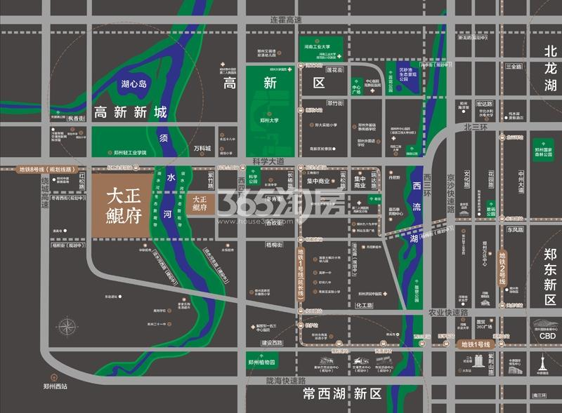 大正鲲府交通图