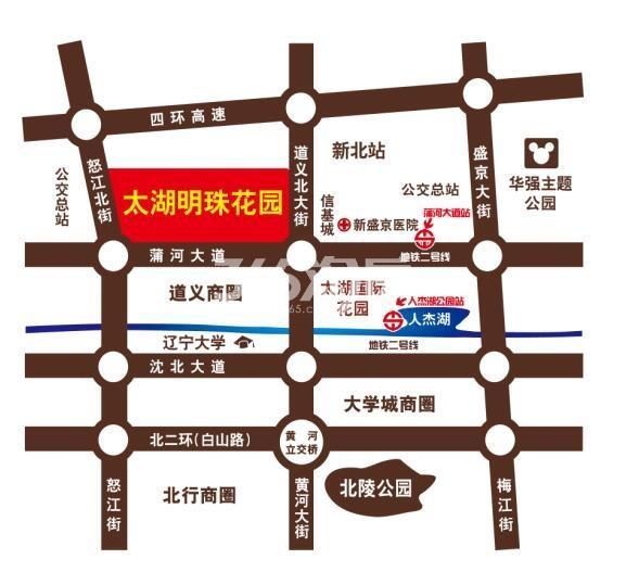 太湖明珠花园交通图