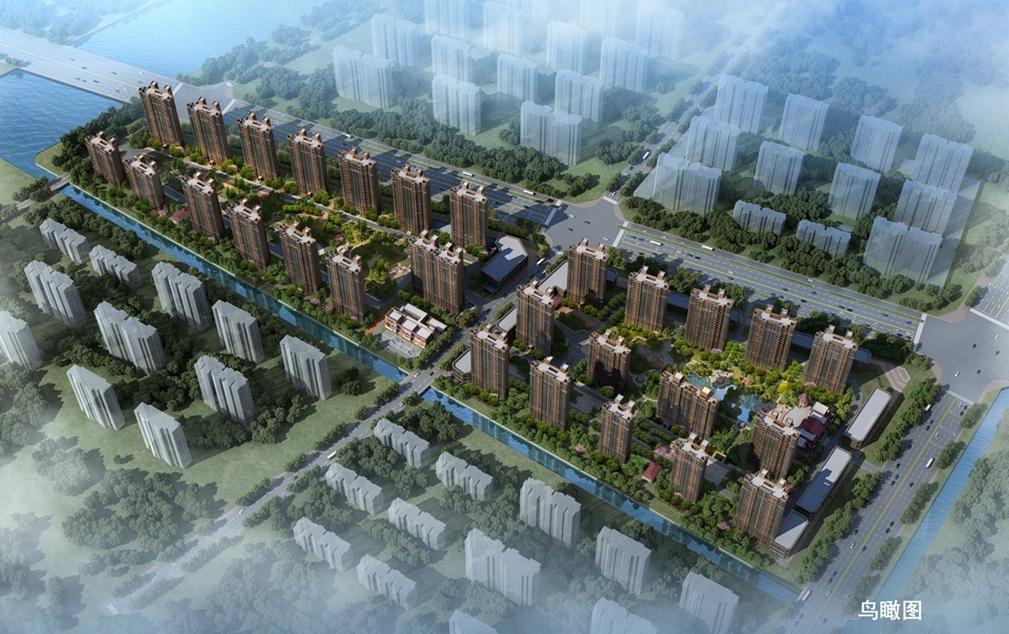 恒大滨河左岸项目鸟瞰图