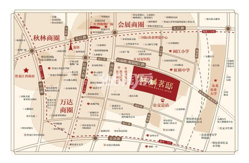 麒麟茗邸交通图