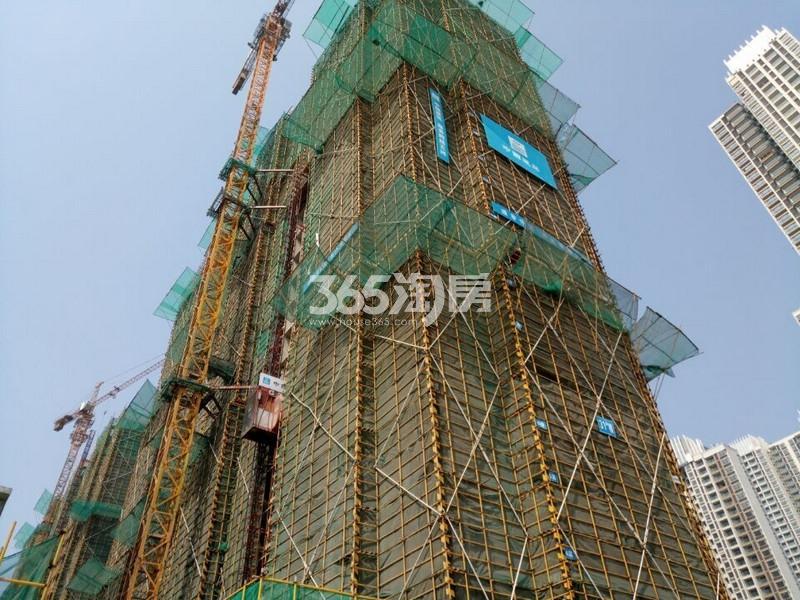无锡万达城34#楼高层实景图(2017.3 摄)