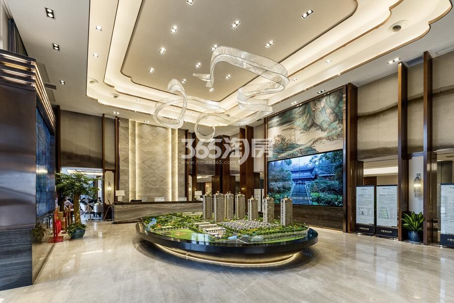 新城香悦公馆售楼部沙盘区  2017年3月摄