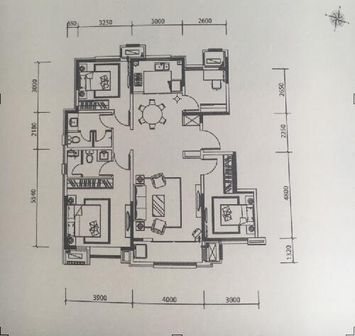 洋房123平米 4室2厅2卫