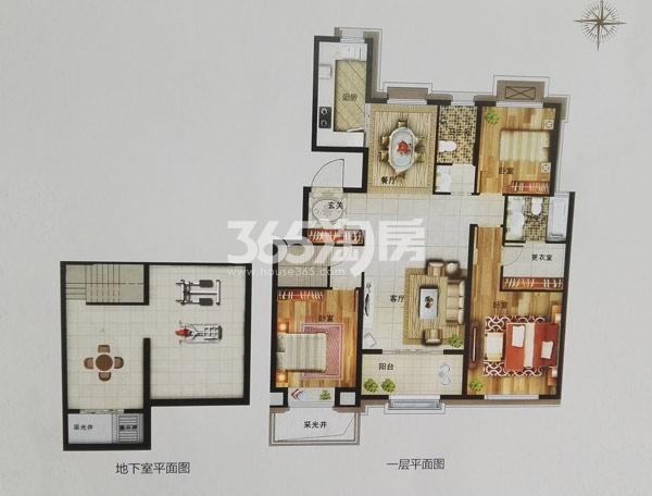 洋房K1户型186㎡三室两厅两卫