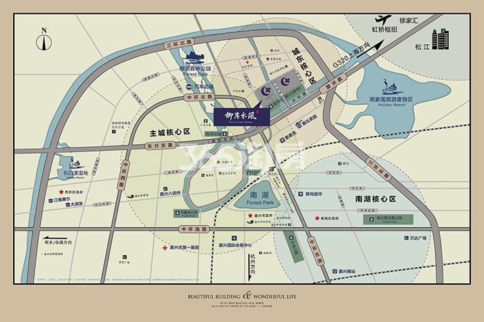 绿城·柳岸禾风(一期)交通图