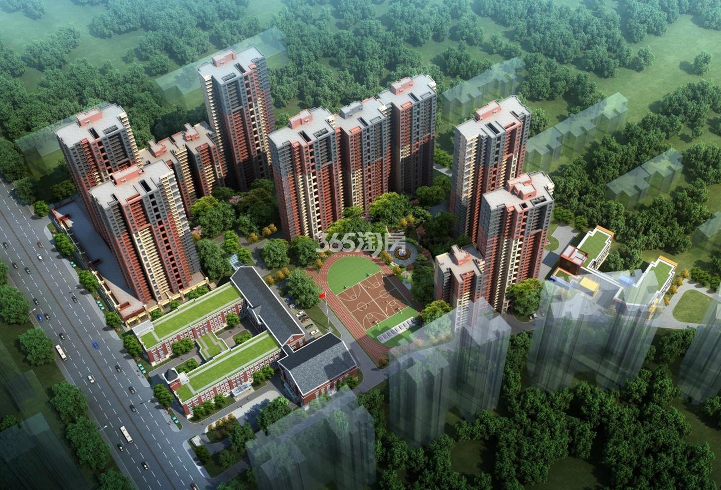 华远海蓝城六期鸟瞰图