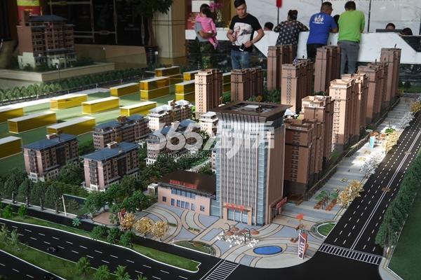 中国铁建・燕山国际城沙盘图 实景图