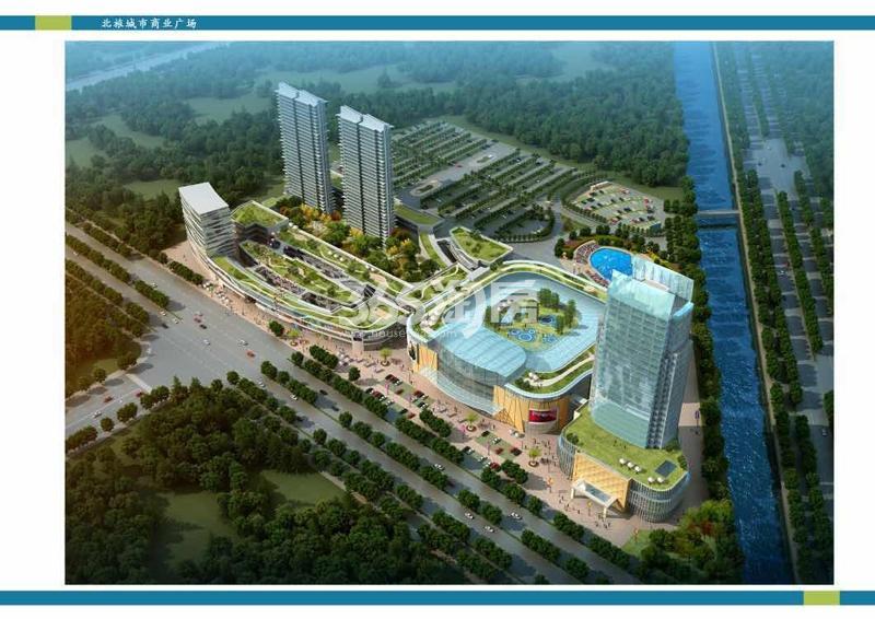 北旅城市商业广场鸟瞰图