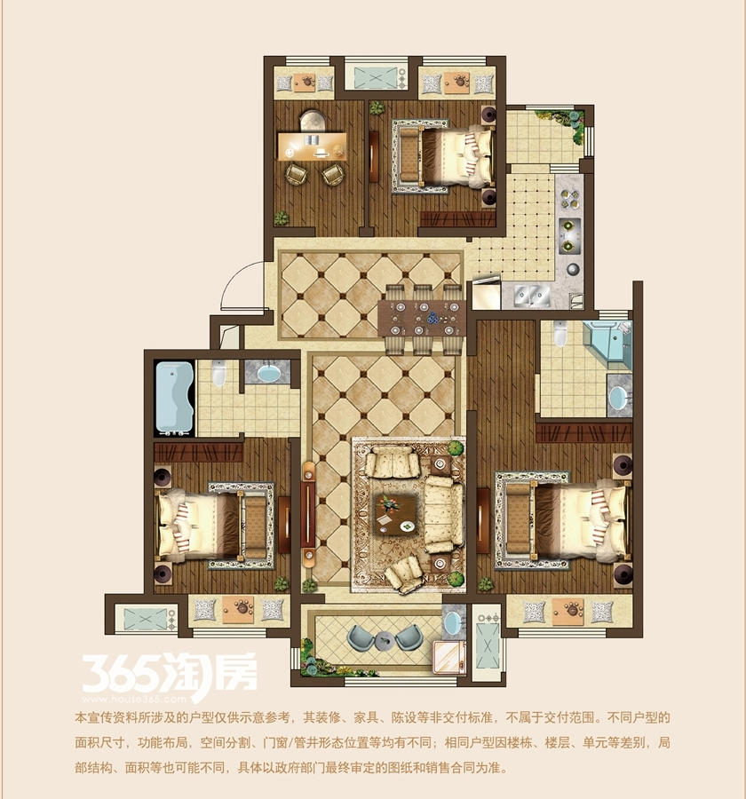 建筑面积约110平E户型(洋房)