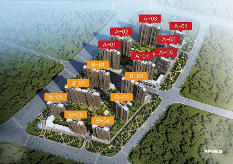 电建地产海赋尚城鸟瞰图