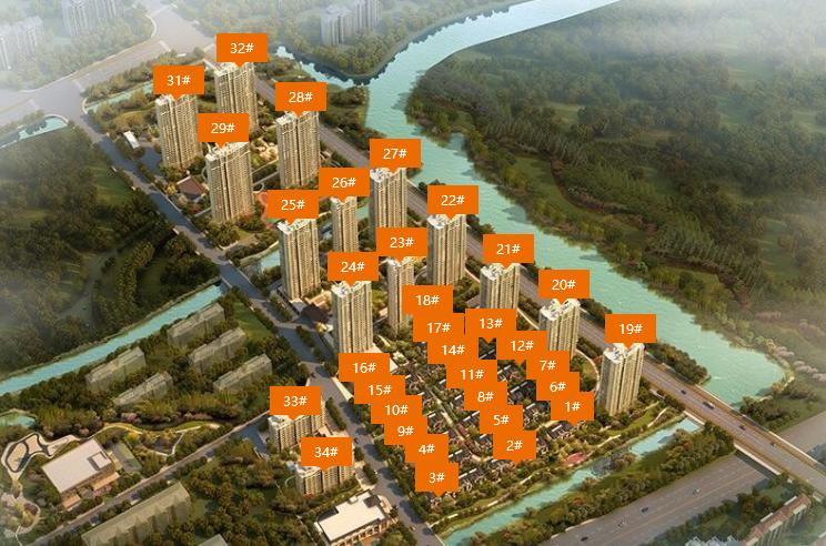 新城香悦公馆鸟瞰图