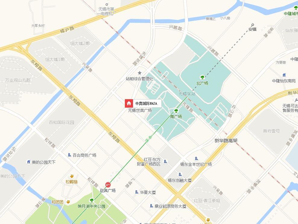 中奥城际NASA交通图