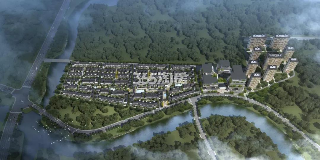 保亿湘湖和院和院鸟瞰图