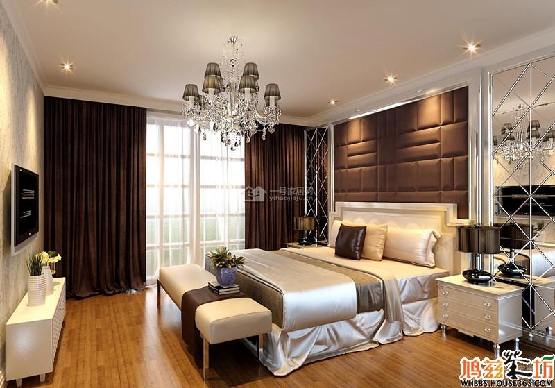 【伟星城】现代欧式129平米三室两厅最新装修效果图