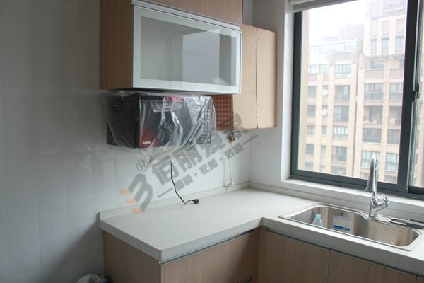 > 低调生态原木色爱格板橱柜+书柜